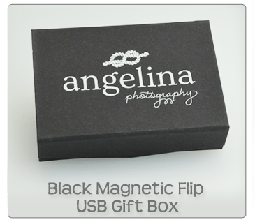 Black Magnetic Flip USB Gift Box