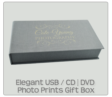 Elegant USB / CD / DVD Photo Prints Gift Box