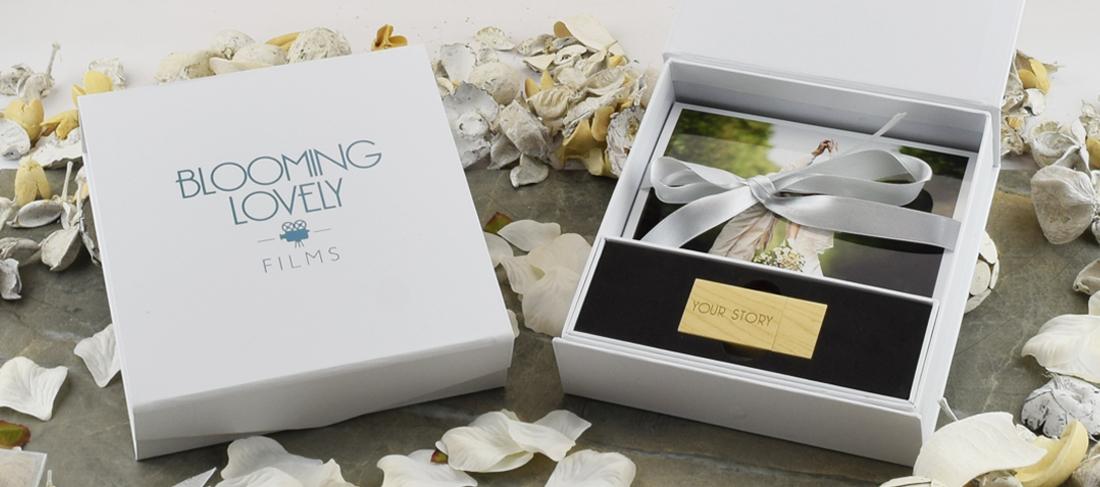 White Magnetic Photo Print USB Gift Box
