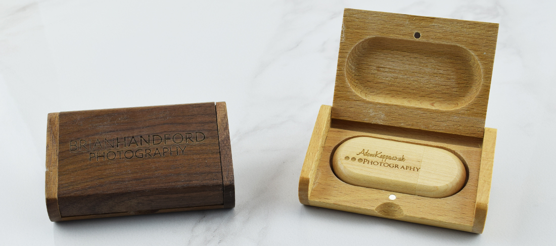 Wooden Flip USB Gift Box