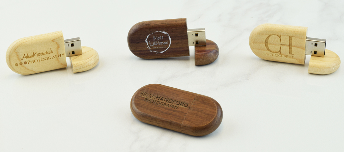Wooden Pebble USB Memory Stick