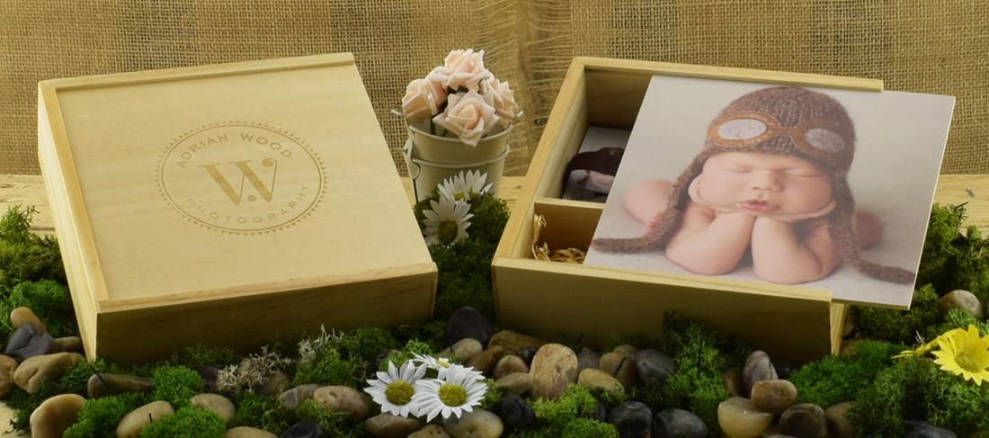 Wooden Slide Photo Print USB Gift Box