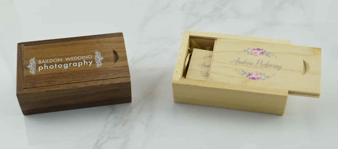 Wooden Slide USB Gift Box