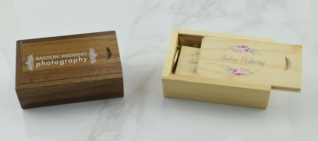 Wooden Slide USB Gift Box
