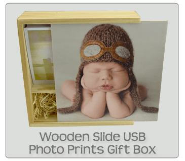 Wooden Photo Prints USB Gift Box
