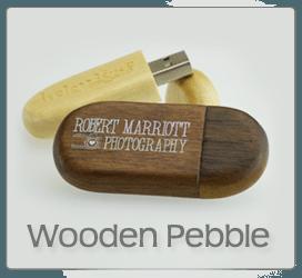 Wooden Pebble USB