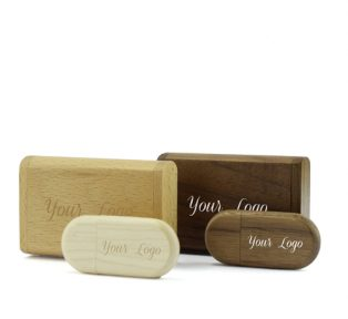 Wooden Flip Gift Box Wooden Pebble