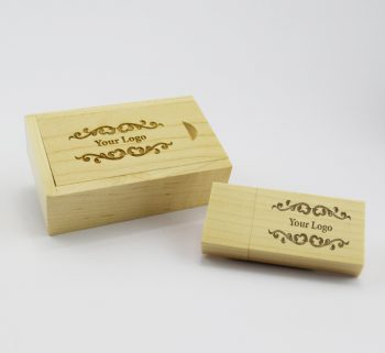product 8gb light wooden block usb in small light wooden slide gift box