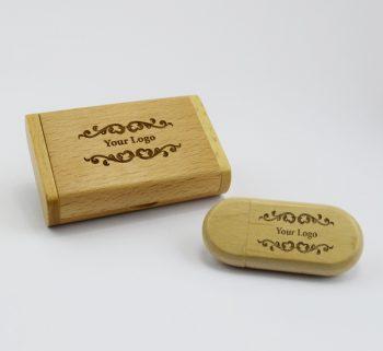 light wooden pebble usb small light wooden flip gift box