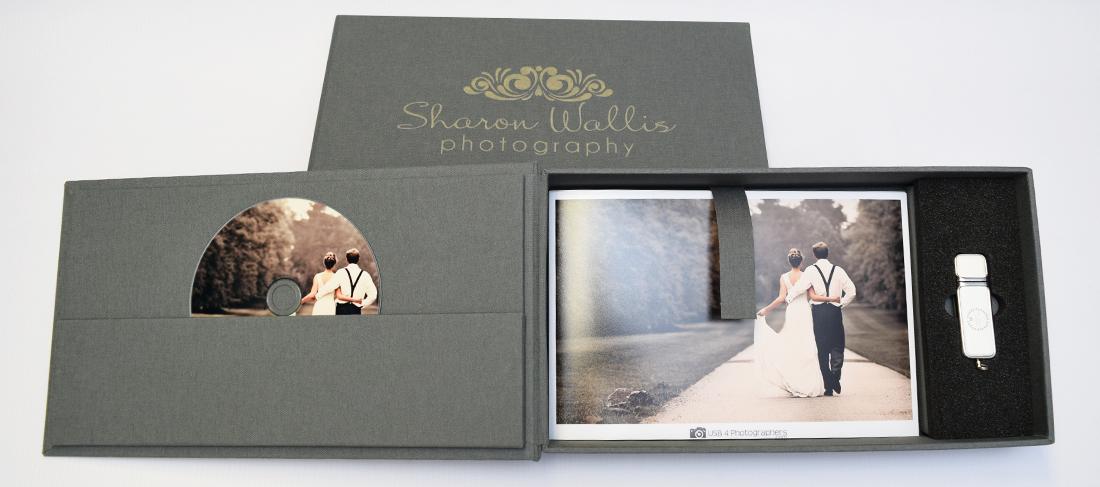 Elegant USB CD DVD Photo Gift Box