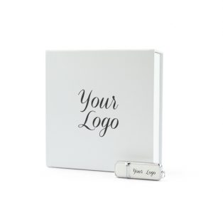 Large White Magnetic Photo Prints Gift Box White Hermes