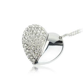 Crystal Heart USB Drive