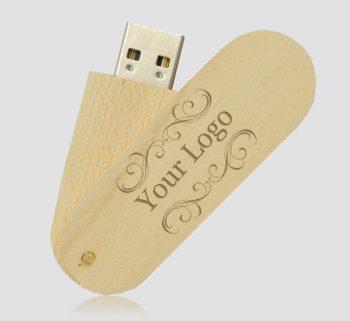 Wooden Twister USB Flash-Drives