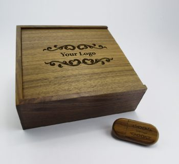 product 8gb dark wooden pebble usb large dark wooden slide photo print gift box