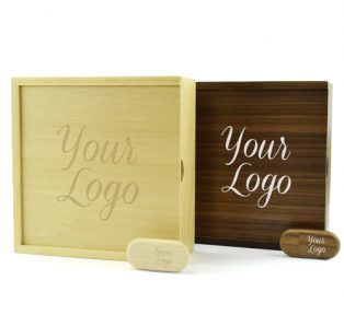Wooden Photo Prints Gift Box Wooden Pebble