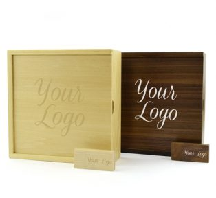 Wooden Photo Prints Gift Box Wooden Block