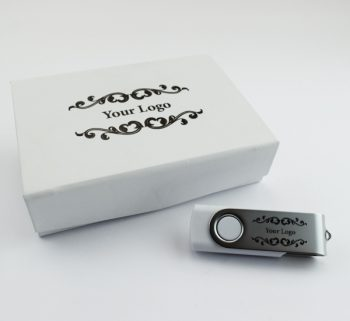 twister usb small white magnetic flip gift box