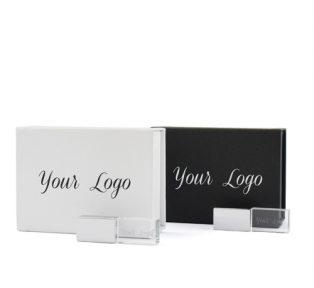 White Black Magnetic Flip Gift Box Crystal