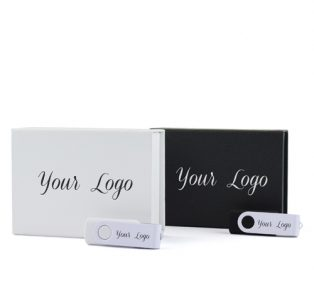 White Black Magnetic Flip Gift Box Twister Duo