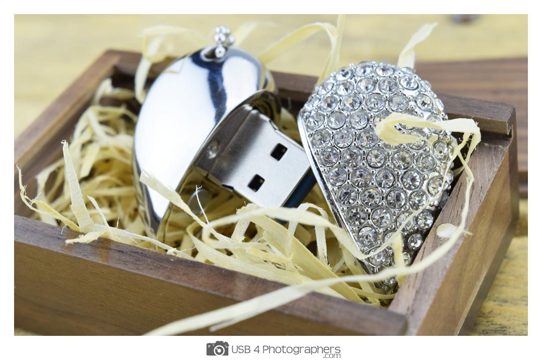 Crystal Heart Usb Memory Stick Usb 4 Photographers Usb